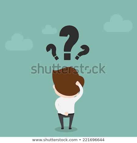 Stockfoto: An · Met · Vraagteken · Boven · Het · Hoofd