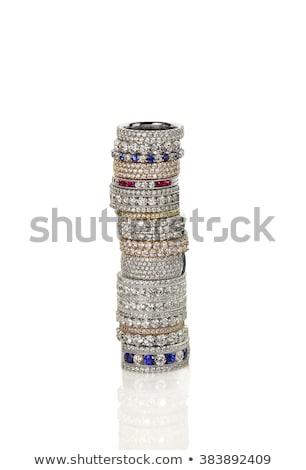 рубин · изумруд · кольцами · Diamond · зеленый - Сток-фото © aspenrock