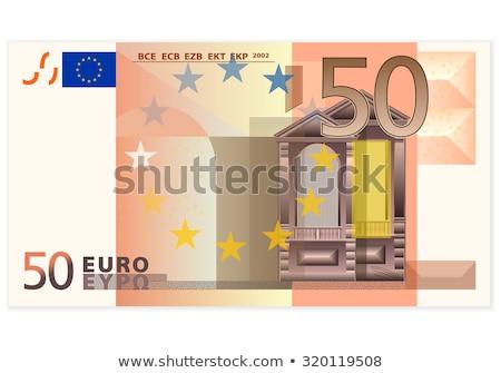 50 Euro bankjegy közelkép kép háttér Stock fotó © tiero