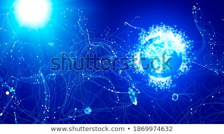 Nowego cząstka odkrycie laboratorium taniec niebieski Zdjęcia stock © andromeda