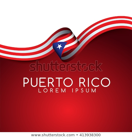 Puerto Rico vlag idee ontwerp wereld Stockfoto © kiddaikiddee