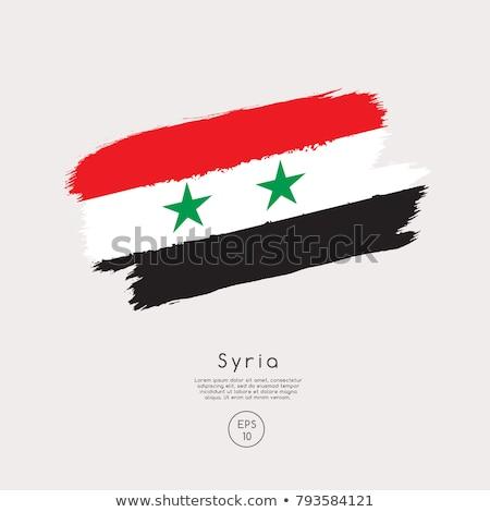 Vlag Syrië idee ontwerp abstract Stockfoto © kiddaikiddee