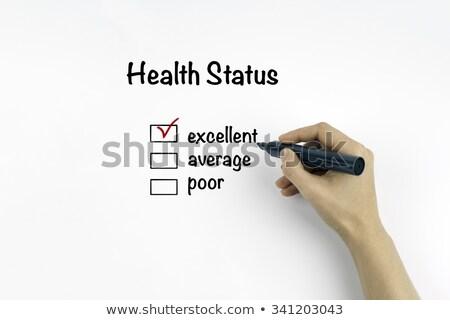 優れた 健康 ステータス 調査 手 チェック ストックフォト © ivelin