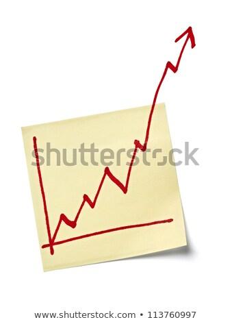 levélpapír · pénzügy · üzleti · grafikon · felfelé · nyereség · zöld - stock fotó © jarin13