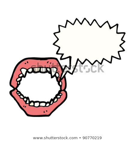 sketch of the vampire denture Stock photo © muuraa