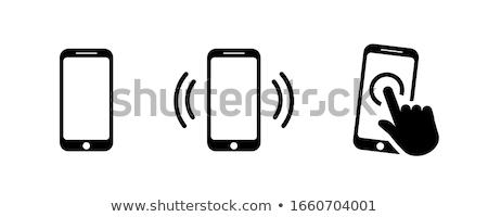 vector · células · teléfono · blanco · fondo · móviles - foto stock © Mr_Vector