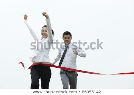Asian business man on position to run. Stock photo © szefei