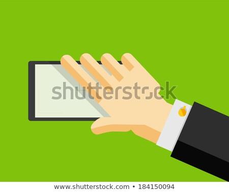 Işadamı uygulama düğme bilgisayar dokunmayın Stok fotoğraf © vlad_star