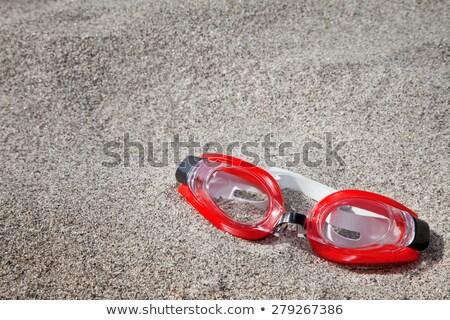 Piros búvárkodik védőszemüveg izolált fehér sportok Stock fotó © dezign56