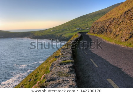 山 · 道路 · アイルランド · 半島 · 空 · 草 - ストックフォト © magann