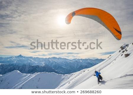 Tél hegyek nap nap Kaukázus Grúzia Stock fotó © BSANI