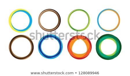 Vector abstract oranje cirkel logo-ontwerp sjabloon Stockfoto © mcherevan
