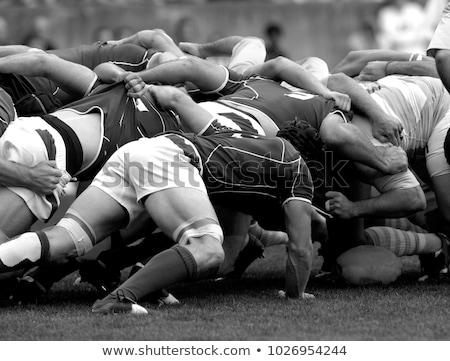 регби матча подробность грязный сапогах тело Сток-фото © asturianu