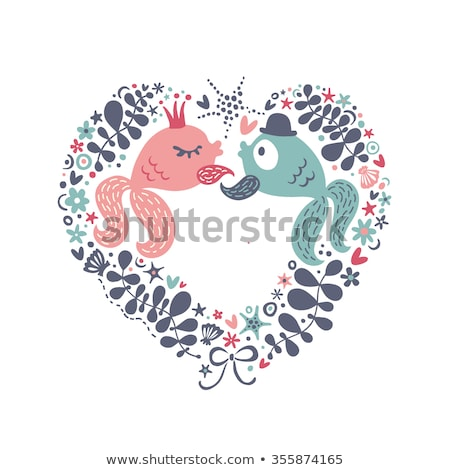 Two funny fishes in love Stock photo © aliaksandra