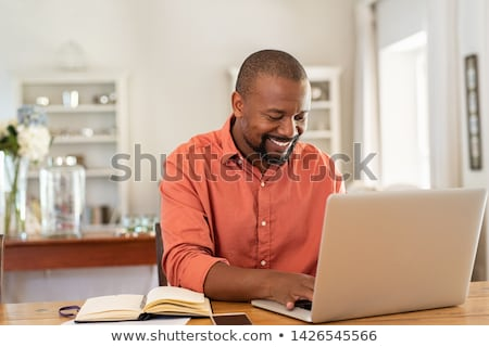 Stock photo: Businessman working at home