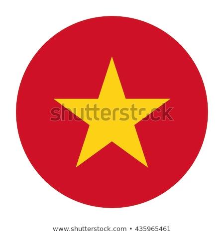 Ikon bayrak Vietnam yalıtılmış beyaz seyahat Stok fotoğraf © MikhailMishchenko