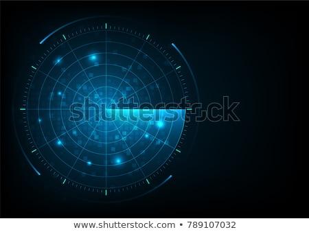 Wektora radar ekranu anteny biały monitor Zdjęcia stock © m_pavlov