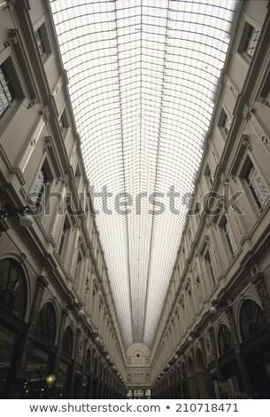 Bruselas Bélgica compras galería cielo Foto stock © artjazz