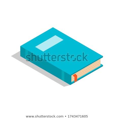 Könyvjelző egyszerű ikon fehér terv zászló Stock fotó © tkacchuk