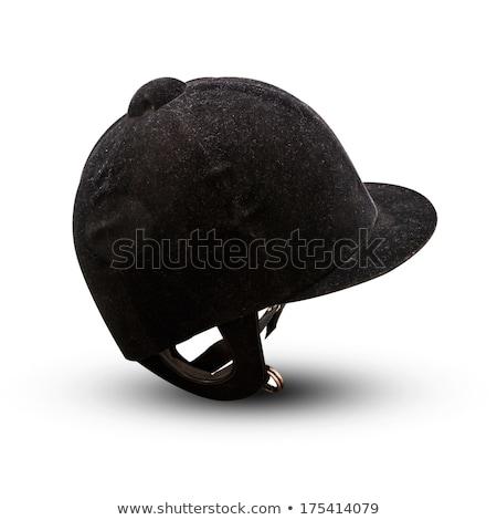 Jockey hoed geïsoleerd witte sport paard Stockfoto © ozaiachin
