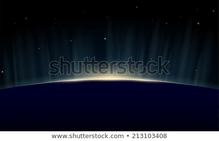 Nap kék fogyatkozás képzeletbeli nap mély Stock fotó © alexaldo