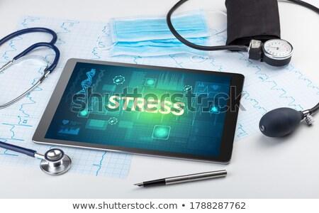 comprimé · diagnostic · dépression · écran · ordinateur · médecin - photo stock © tashatuvango