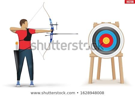 íjászat verseny gyufa sport nyíl rajz Stock fotó © artisticco