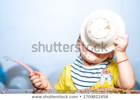 Csecsemő rendetlen gyönyörű boldog anya dajka Stock fotó © phakimata