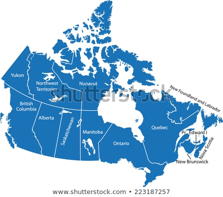 map of canada   newfoundland and labrador province stock photo © istanbul2009