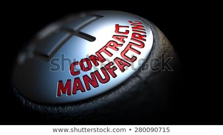Contrato fabrico engrenagem alavanca controlar preto Foto stock © tashatuvango