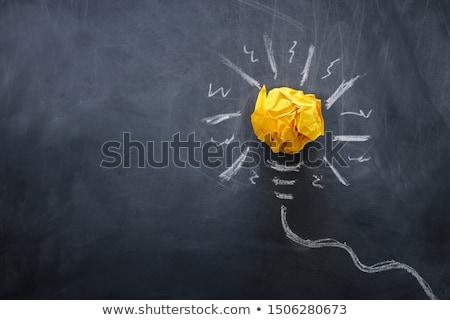 Blackboard · geschreven · vraag · twee · facultatief · antwoorden - stockfoto © mhristov
