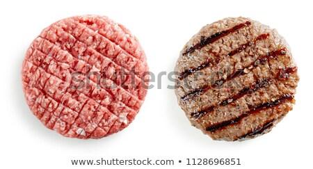 Ruw hamburger vlees kruid Spice knoflook Stockfoto © Kayco