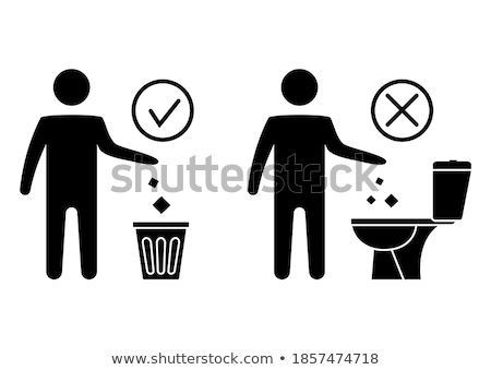 Prohibition sign please throw no garbage in the toilet  Stock photo © Ustofre9