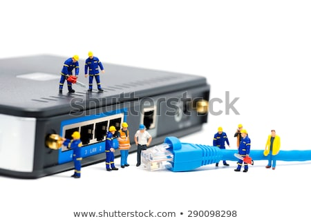 Miniature Network Engineers At Work. Technology concept Stock photo © Kirill_M