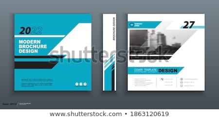 Kantoorwerk vierkante vector Blauw icon ontwerp Stockfoto © rizwanali3d