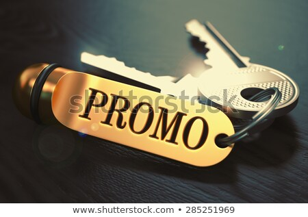 Promo Concept. Keys with Golden Keyring. Stock photo © tashatuvango