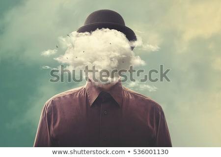 Kafa bulut ağaç yüz kişi Stok fotoğraf © Lightsource