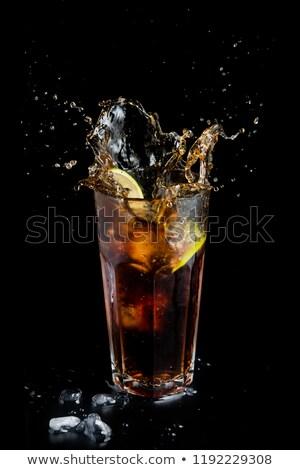 vidro · fresco · verão · chá · gelado · beber - foto stock © zerbor