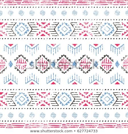 Absztrakt vektor törzsi kisebbségi minta végtelen minta Stock fotó © balabolka
