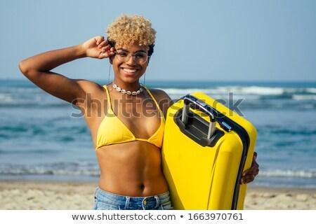 довольно · девушки · плаванию · костюм · чемодан · молодые - Сток-фото © Aikon