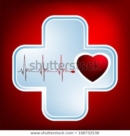 вектора красный фон медицинской файла сердце Сток-фото © beholdereye
