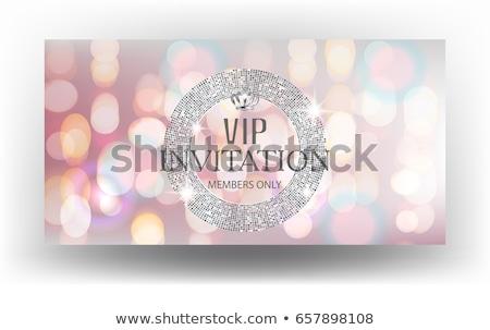 Abstract partij insigne muziek ontwerp communie Stockfoto © oblachko