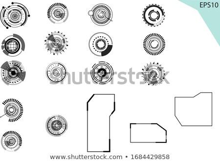 Humanos ojo círculo vector icono diseno Foto stock © blaskorizov