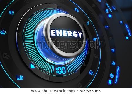 Moed zwarte controle troosten Blauw achtergrondverlichting Stockfoto © tashatuvango