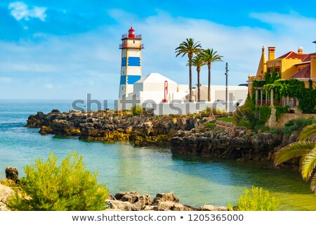 Santa Marta lighthouse and Municipal museum of Cascais Stock photo © homydesign