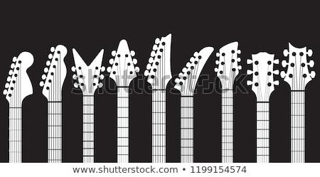 伝統的な 固体 ボディ エレキギター 孤立した 黒 ストックフォト © Bigalbaloo