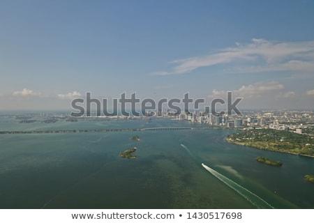 Miami · városkép · sziluett · kulcs · fa · város - stock fotó © lunamarina