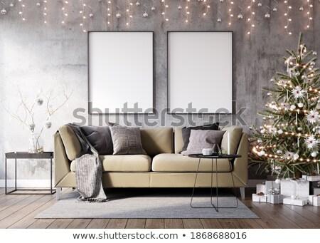 Karácsonyfa belső felfelé üres fal könnyű Stock fotó © pozitivo