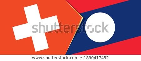 Zwitserland Laos vlaggen puzzel geïsoleerd witte Stockfoto © Istanbul2009