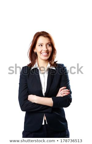 Redhair woman looking away Stock photo © deandrobot
